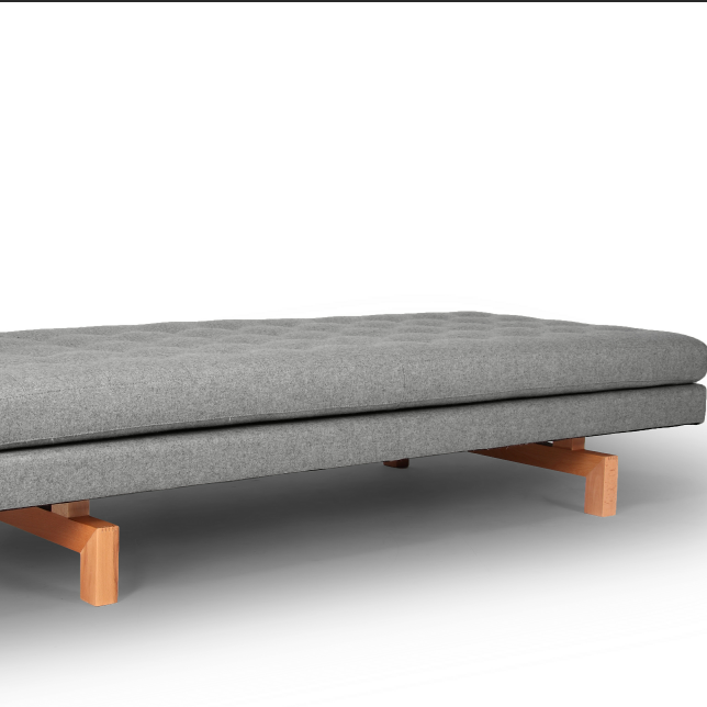 new design daybed in fabric with wooden base