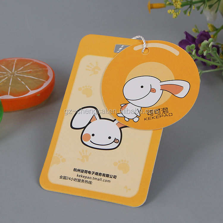 art paper customize printed branded clothing price label hangtag