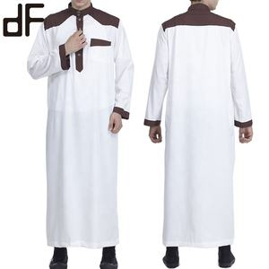 wholesale al daffah thobes new design al daffah muslim clothing arabic thobe men thawb robe abaya Jubba