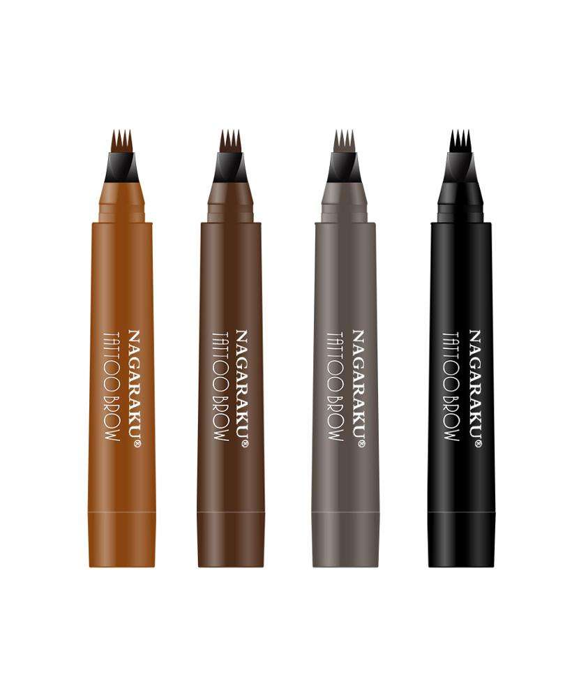 New Arrival Eyebrow Pencil Waterproof 3D Stereoscopic Liquid Four Color Head Sketch Line Eyebrow Refill Pencil Makeup
