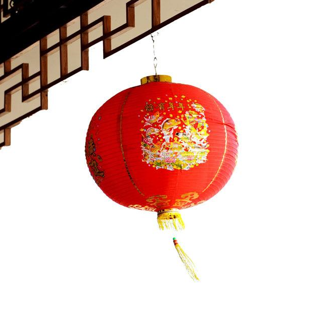 Chinese traditional red silk lantern