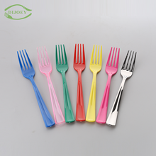 Perfect design wholesale colored dessert restaurant disposable cheap fork plastic