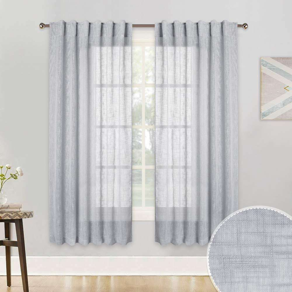 2019 fashion polyester sheer curtains for hotel used