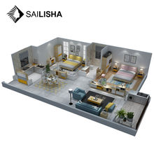 Interior Design Furnishing Project Full houses furniture suit bedroom/living room/dining room furniture set