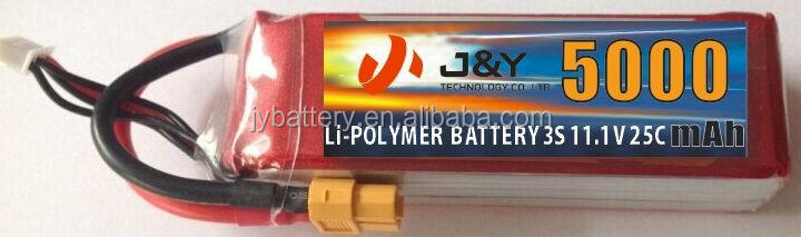 5000 MAH 3 S 25C MAX 50C 11.1 V HARD-CASE RC LIPO BATTERIE NANO TECH