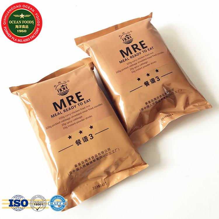 MRE military ration pack survival food army navy marine prep camply