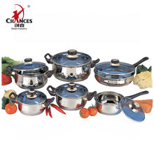 Kitchen Stainless Steel OEM 12pcs Cookware Set