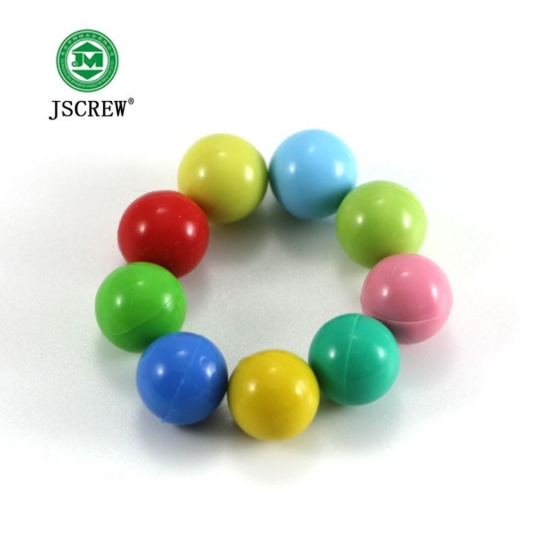 custom colorful plastic coated steel ball for toys