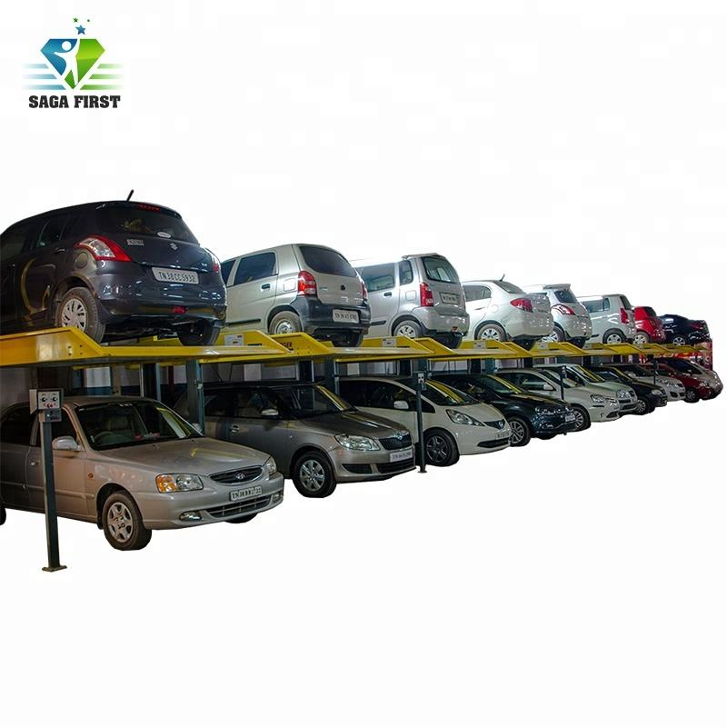 Two Post 2 Level Parking Lift Car Parking System