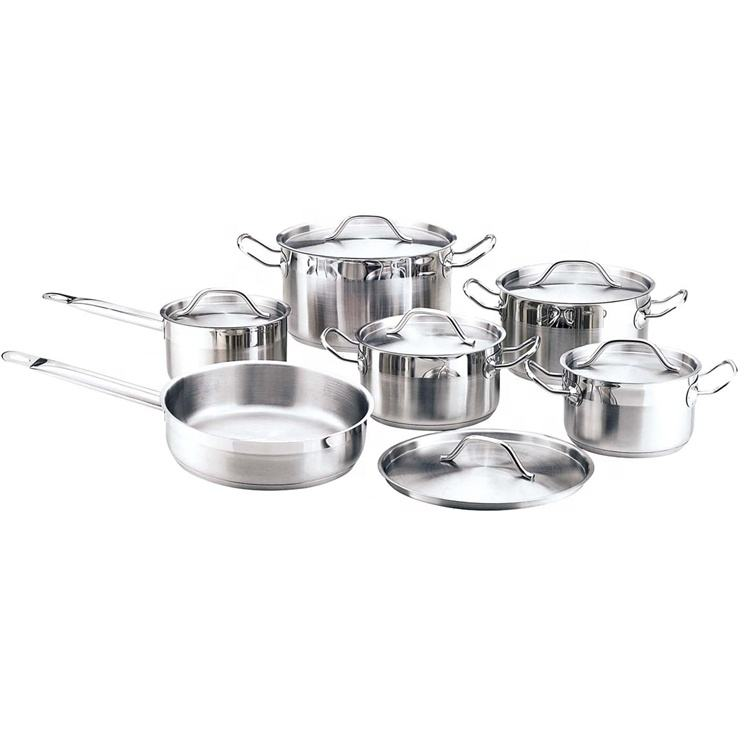 ss wire handle 12pcs stainless steel kitchen living cookware set dubai