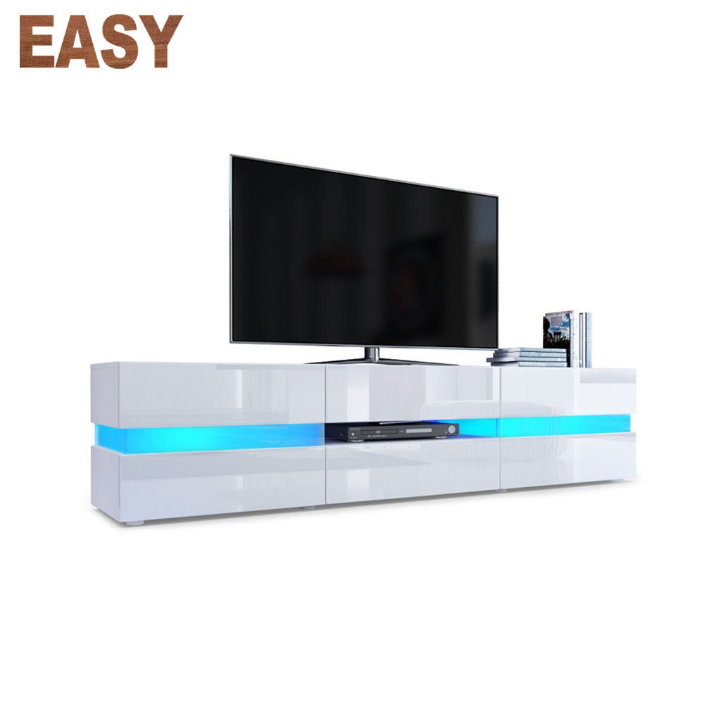 High glossy home usage white led mdf acrlyic modern tv cabinet