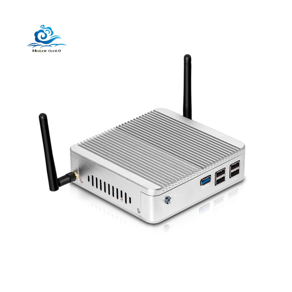 Intel Celeron Mini PC N2830 4GB DDR3L 60GB SSD Window10 Linux HD VGA 300M WiFi Gigabit LAN 5*USB Fanless TV Box PC