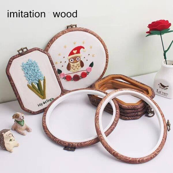 4 size imitate wood to restore ancient ways embroidery hoop