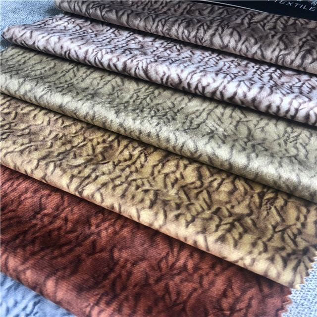 High quality printing holland velvet, customized design printing velvet fabric for sofa covering
