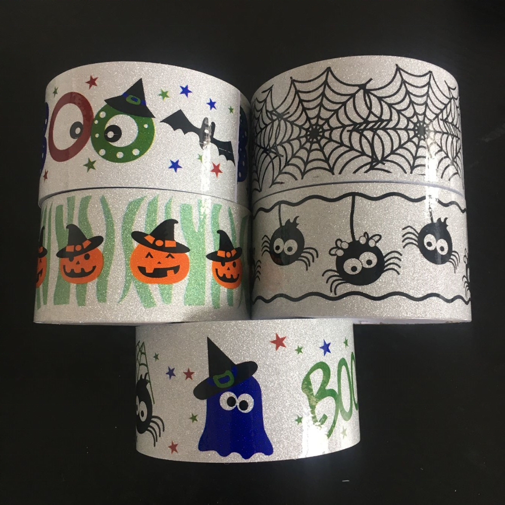 Halloween thema band spinne bat kürbis geister party schwarz sortiment DIY scrapbooking dekorative band handwerk geschenk masking tape