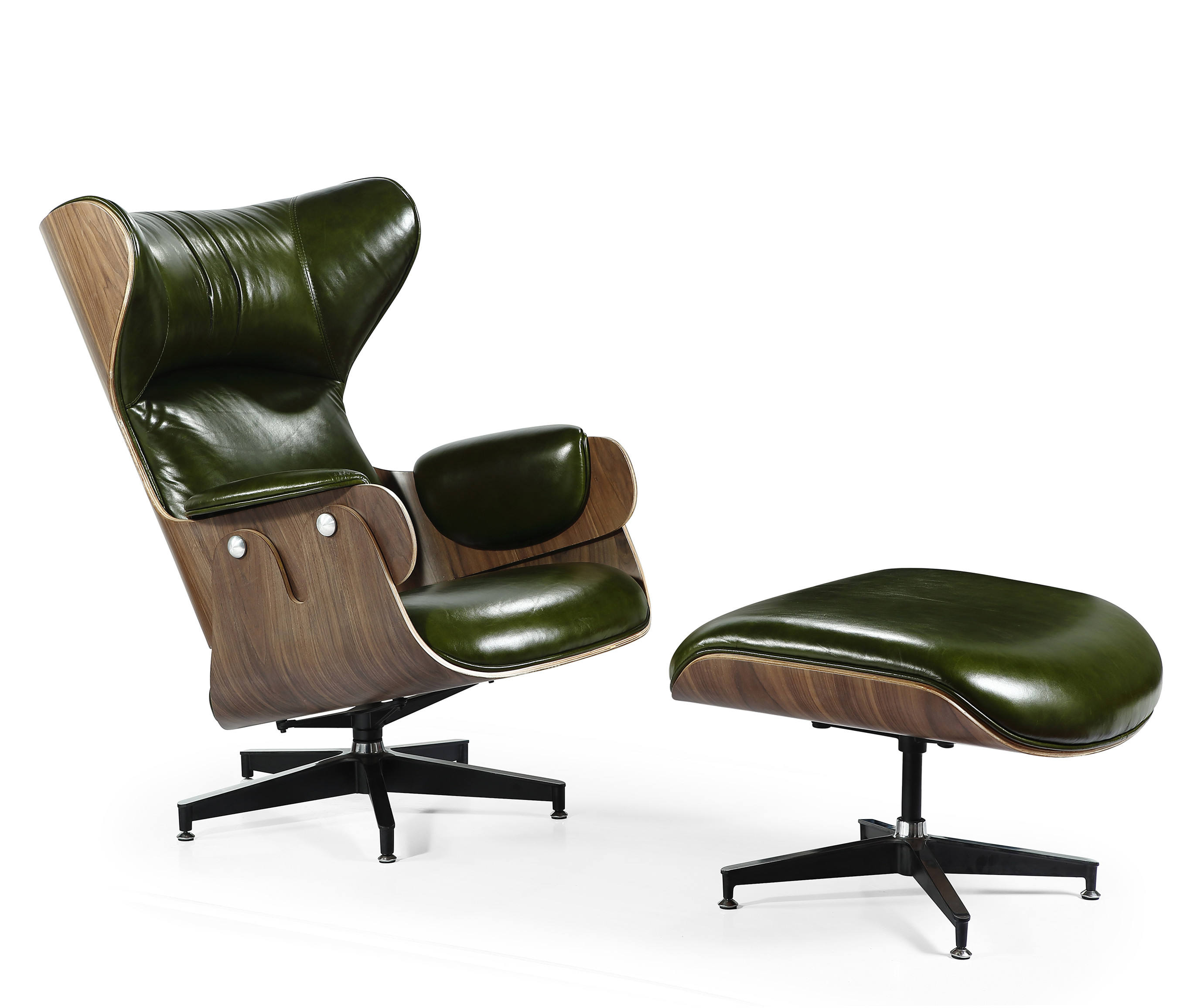 Modern Design Living room Lounger Armchair in Leather or Fabric