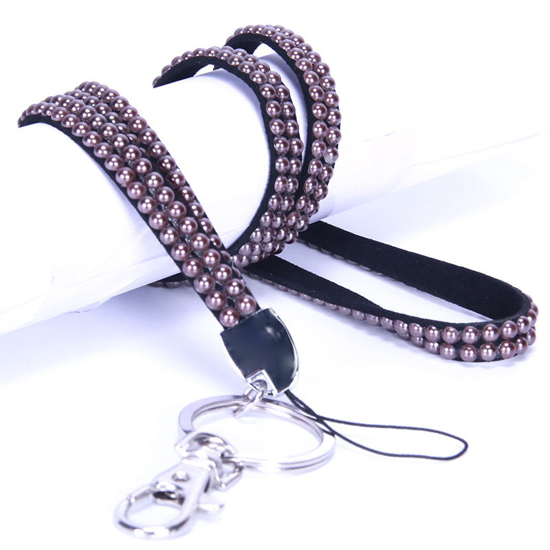 Hot sell Shining jewelry rhinestone lanyard for keys