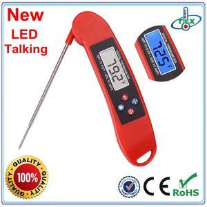 Bonne qualité parler cuisine numérique bbq thermomètre avec trou de coup