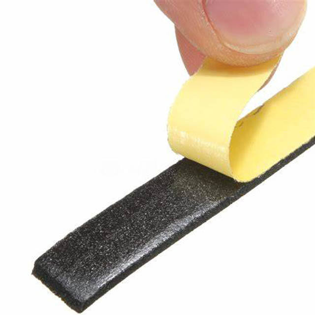 Single Sided Self Adhesive Seal Door Window Tape Strip Collision Avoidance Sealing rubber foam strip