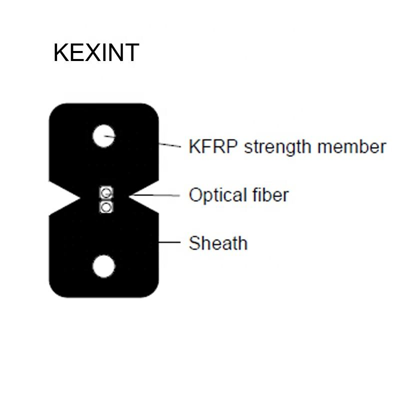 KEXINT Schmetterling Fiber Optic Drop Kabel FTTH Outdoor/Indoor Kabel GJYXCH/GJXH/GJYXFCH