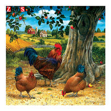 Oil painting hen round or square drill  diamond embroidery  kits home decoration gift DIY full diamond painting