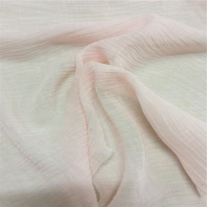 Silk30% Viscose20% Liene50% blended Crepe Georgette dyed fabric