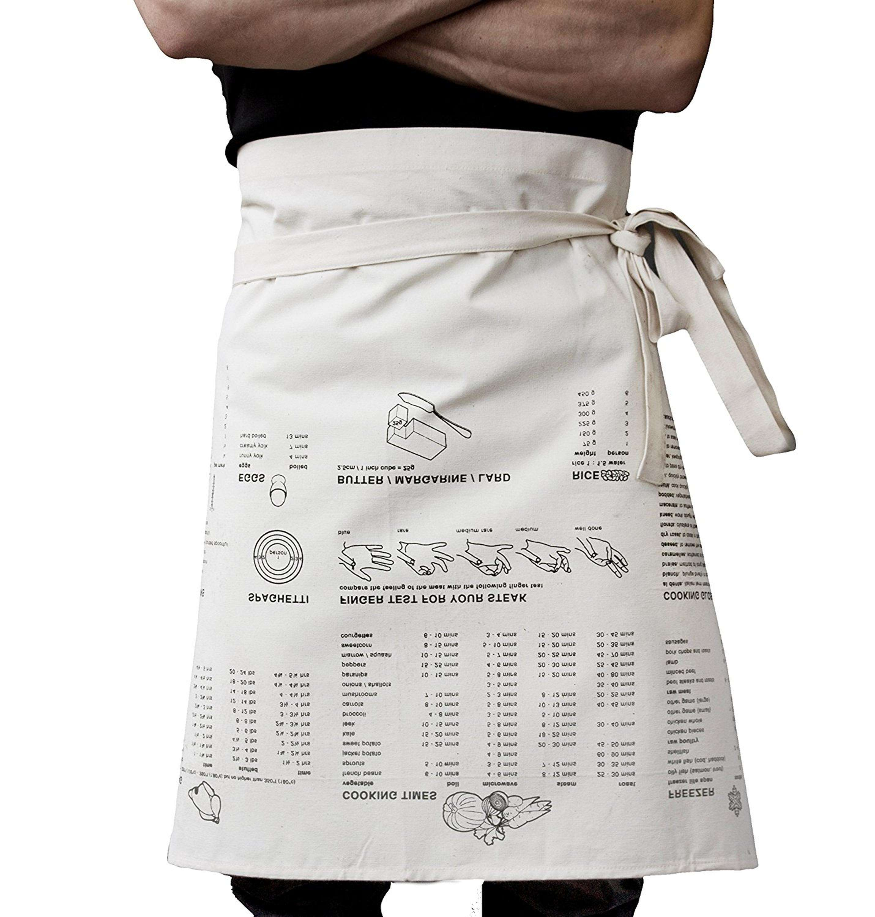 100% cotton white chef waist apron kitchen and cooking for men