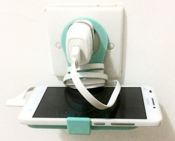 Colorful Foldable Wall Charging Shelf Hanger Cell Phone Charging Holder