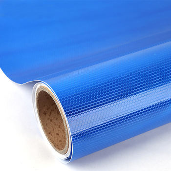 Pvc honeycomb vinyl high quality adhesive tape roll blue reflective