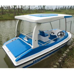 Electric fiberglass water jet boat