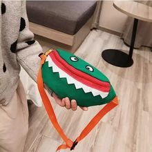 Children's Baby Pocket Girls Boys Cartoon Sharks Casual Bags Kindergarten Girls Boys Fanny Bags Chest Girls Wallet Tote
