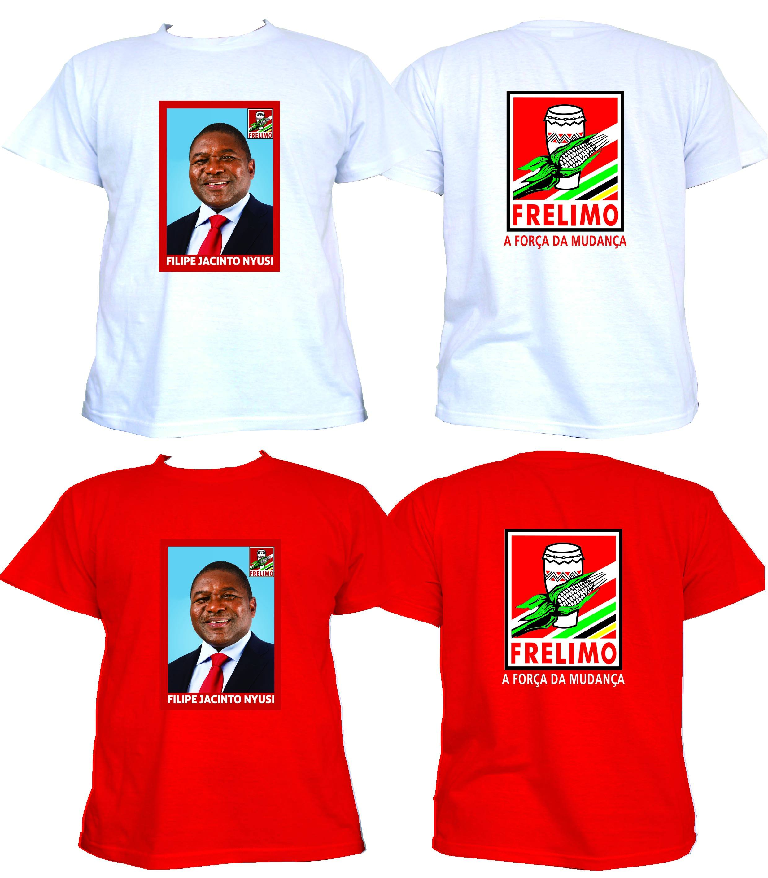 Election campaign t-shirts for president t-shirts caps for mozambique campaign made in China