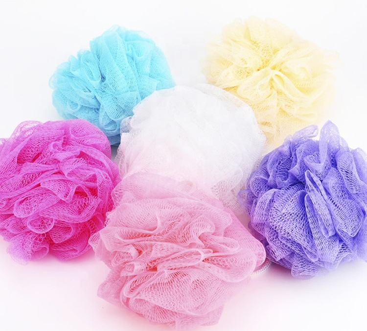 High quality colorful bath ball bath sponge