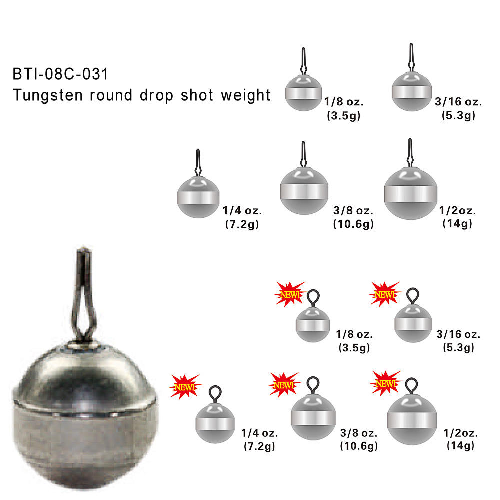 BELL STYLE 10 of 1//8oz STEEL drop shot weights