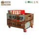 Big sell,pop shop crate with wheel,fabulous distressed finish reclaimed kid's toy box,storage