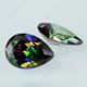Pear cut 4x6mm multi color change CZ gemstone with wholesale price