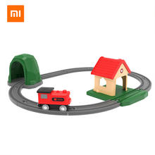 Xiaomi Mi Rabbit Track Building Blocks Sound and Light Train Set Children's Baby Toys Wooden Building Blocks Assembled Rail Car