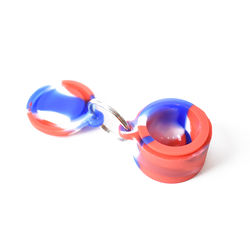 22 ml key chain with mini silicone jar