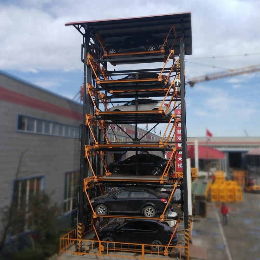Jiuroad high anti corrosion vertical car storage parking