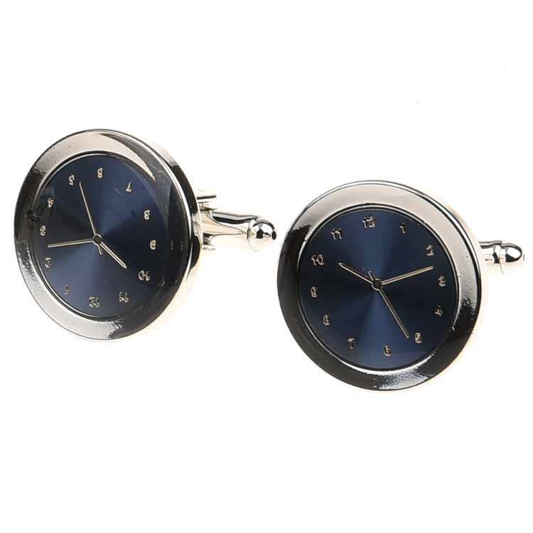 New style personalized real watch Clock cufflinks 대 한 비즈니스