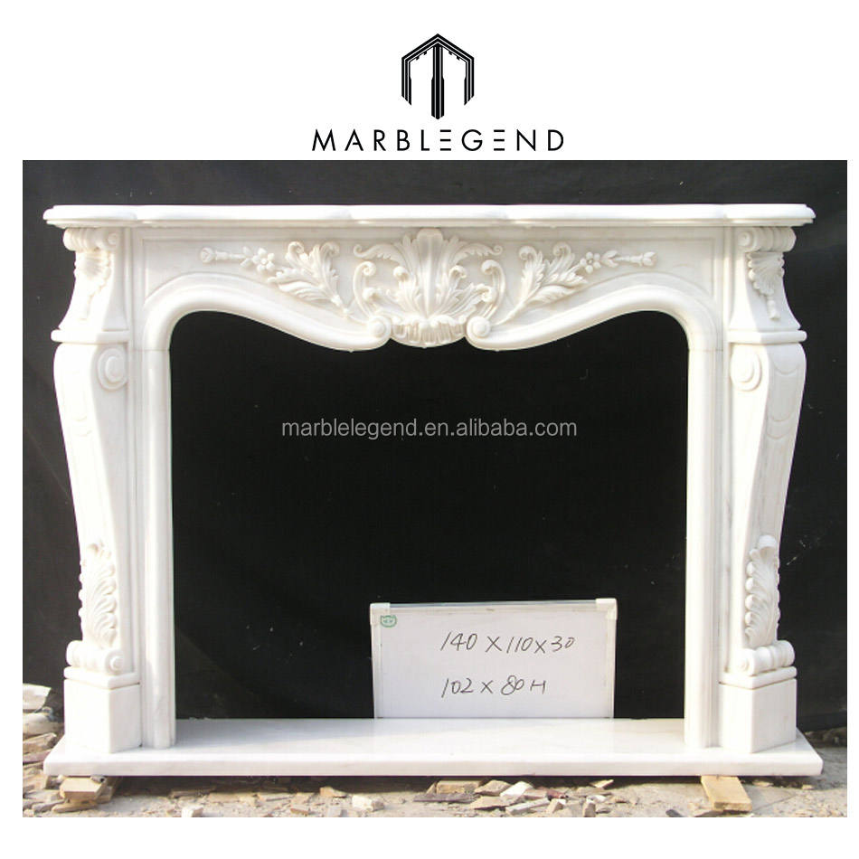 Superior Design japanese style fireplace made of natural white onyx
