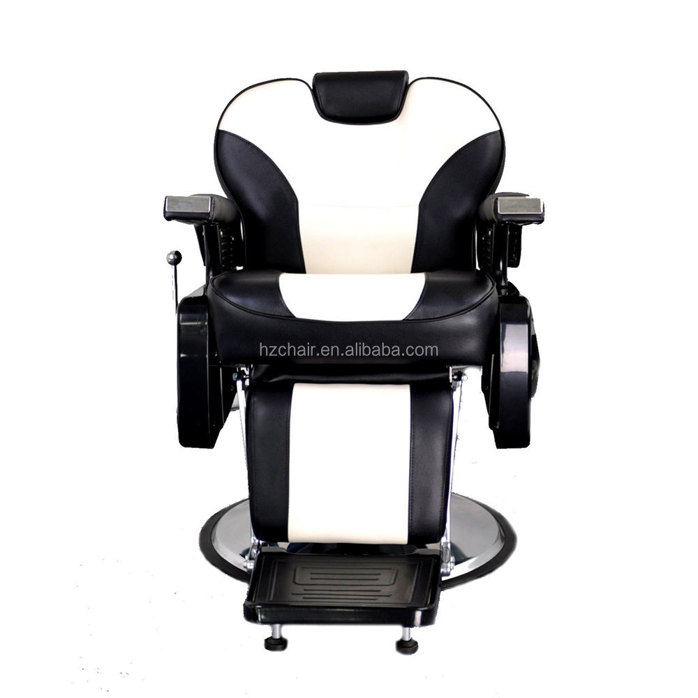 Reclining barber chair for sale;Black and white hydraulic beauty salon equipment;High quality salon furniture discount