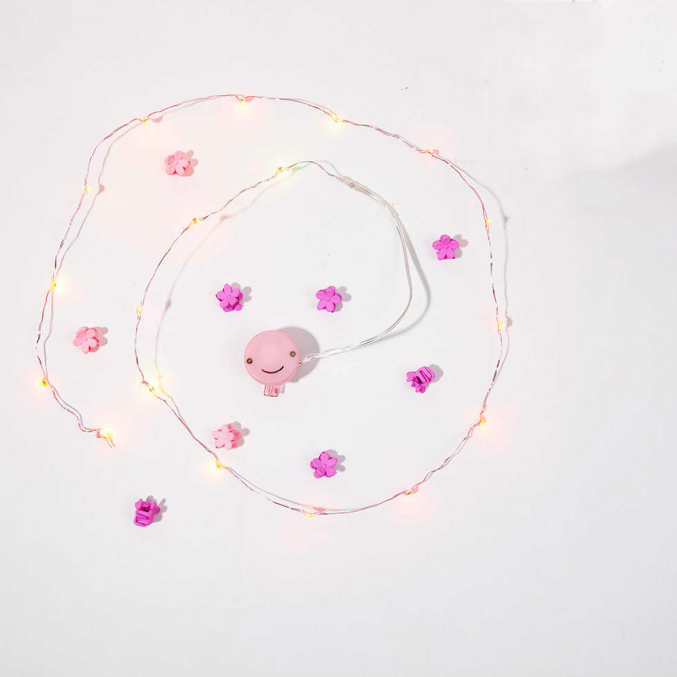 Twinkling tresses Hair Lights 18LEDS Pink Copper Wire Fairy lights