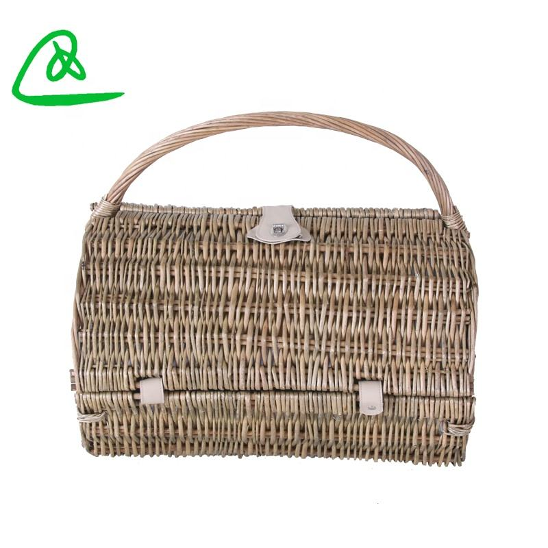Open weave optima picnic woven basket craft 6 person