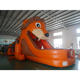 commercial outdoor cute Lion animal inflatable Obstacle Course For kids