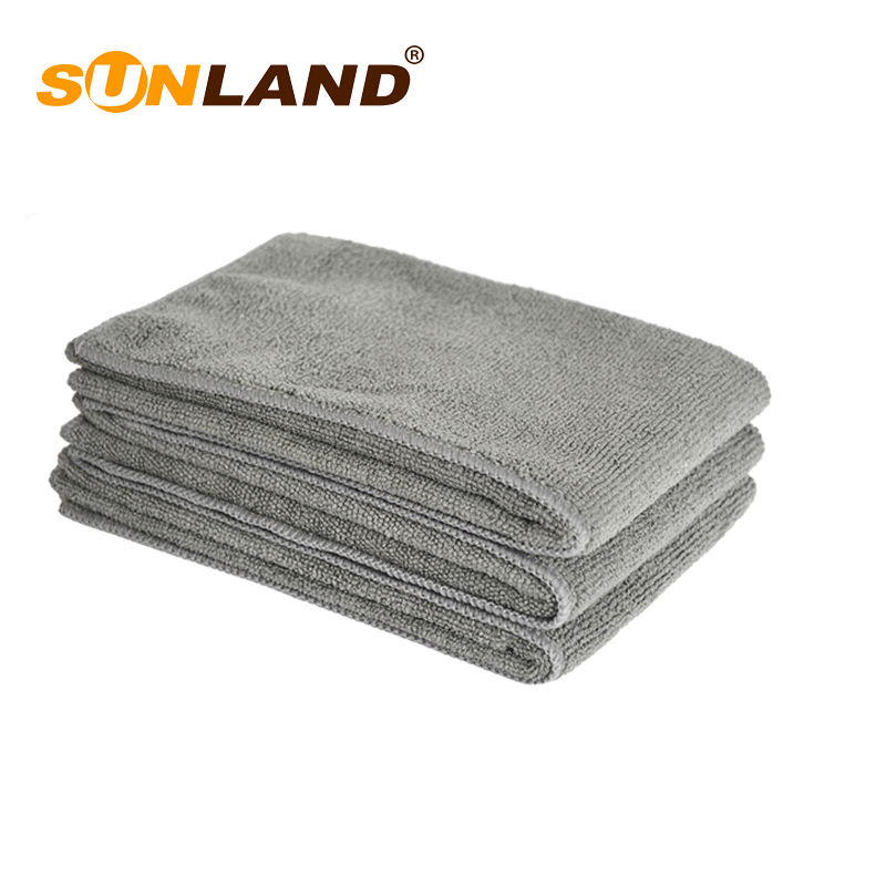 Sunland grey quick dry window cleaning cloth microfiber dish towel