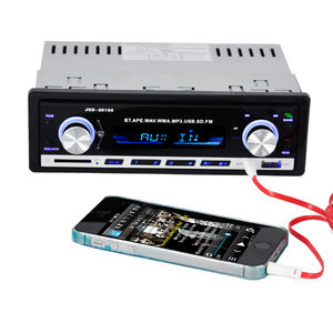 Bluetooth receive call Car mp3 player with color button