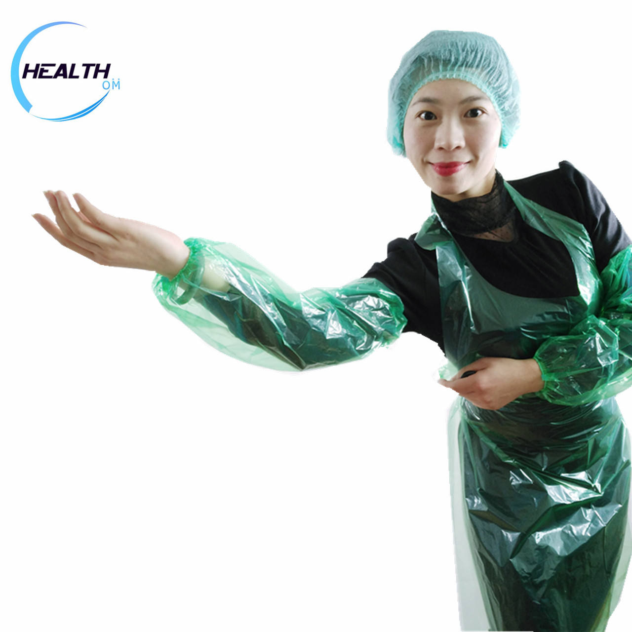 disposable pe & cpe over sleeves elastic cuff sleeve covers with good protective
