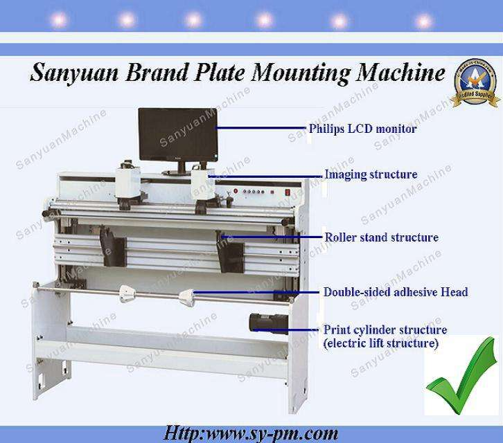 china professional manufacturer flexo resin plate mounting machine