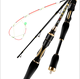1.0m 1.2m 1.4m 1.5m soft Winter ice fishing tackle Night fishing Pocket portable Titanium alloy carbon telescopic fishing rod